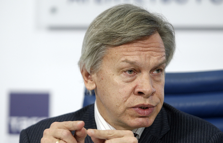 Alexey Pushkov, chairman of the Russian State Duma's International Affairs Committee
