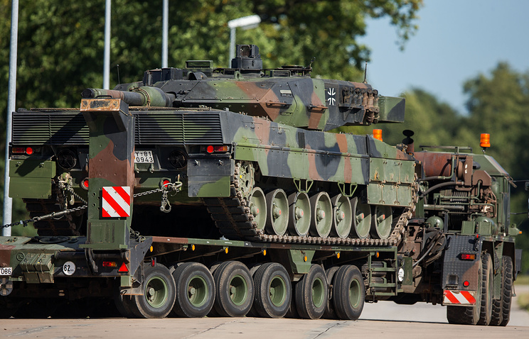The Leopard 2 tank of the German armed forces