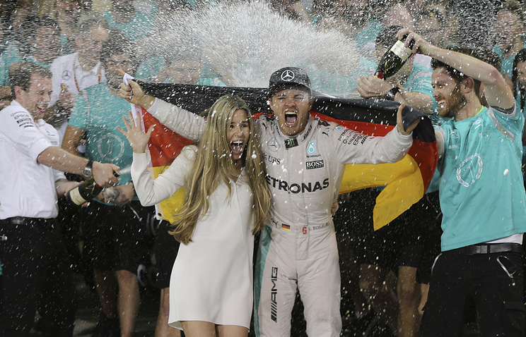 Nico Rosberg after winning 2016 world champion title in Abu Dhabi, United Arab Emirates
