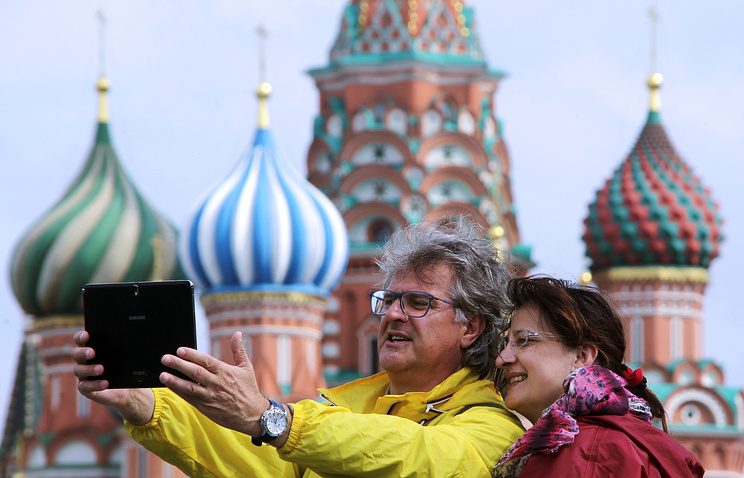 Tourists in Moscow