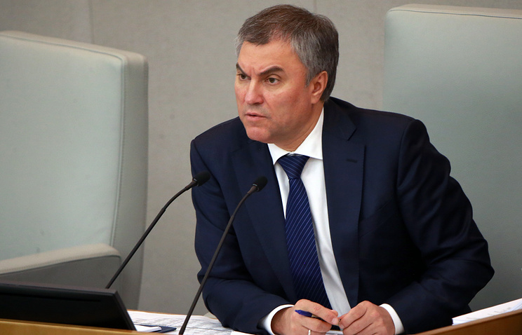 Speaker of Russia's State Duma, the lower house of parliament, Vyacheslav Volodin