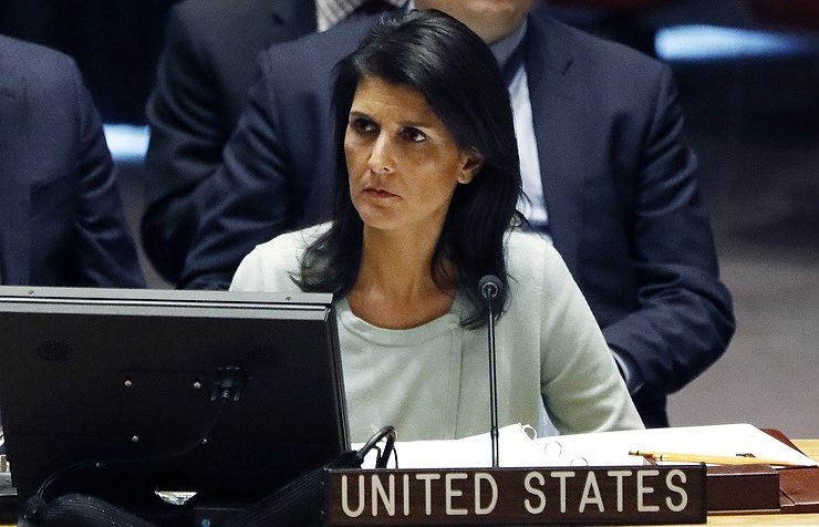 US ambassador to the UN Nikki Haley