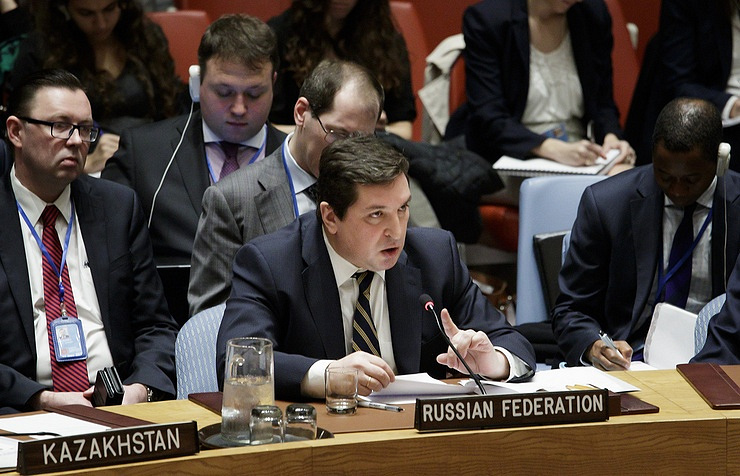 Russia's Deputy Permanent Representative to the UN Vladimir Safronkov