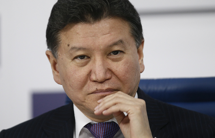 Kirsan Ilyumzhinov, the president of the International Chess Federation