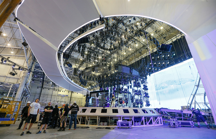 Preparations ahead of the Eurovision Song Contest 2017 at the International Exhibition Centre venue in Kiev, Ukraine