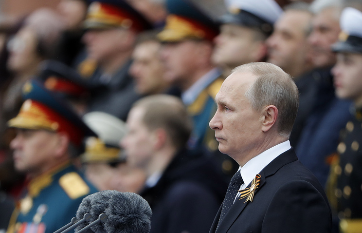 Vladimir Putin during the Victory Day parade