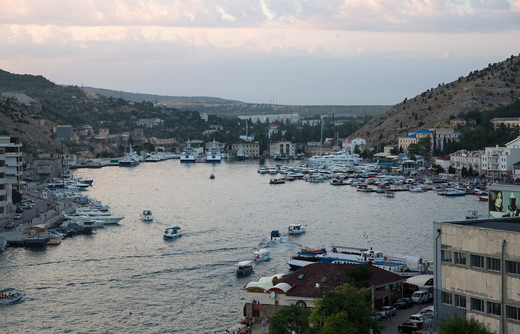 A view of a bay in Balaklava, Crimea