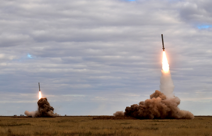 The launch of missiles at the Kapustin Yar testing range