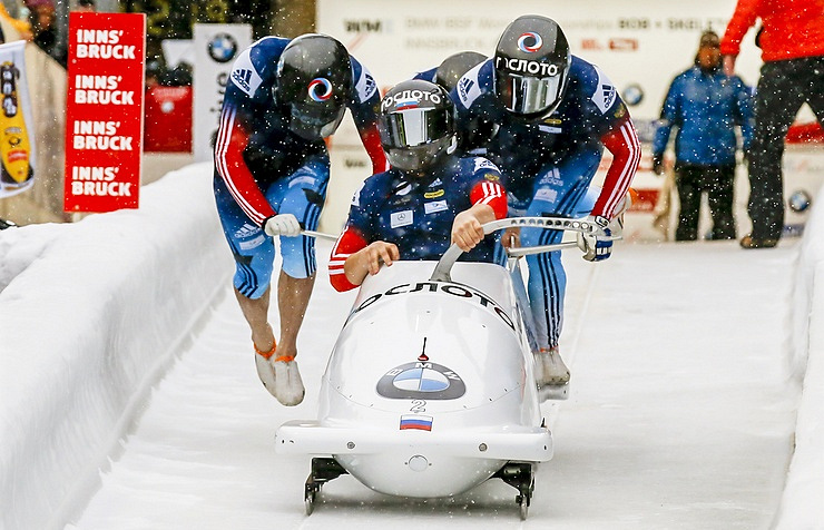 Russia's team of Alexander Kasyanov, Ilvir Khuzin, Vasily Kondratenko and Alexei Pushkarev