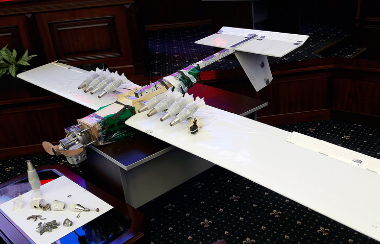 Russian Federation displays Syria raid drones it says were made with outside assistance