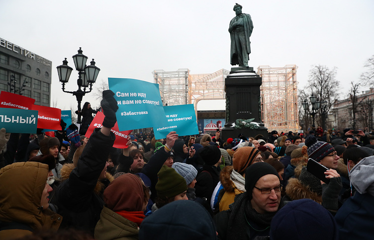 Russian opposition leader Alexei Navalny detained