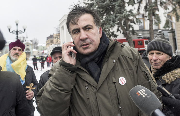 Ex-Georgian leader and former Governor of Ukraine's Odessa Mikheil Saakashvili
