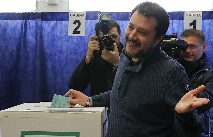 Leader of the League party, Matteo Salvini