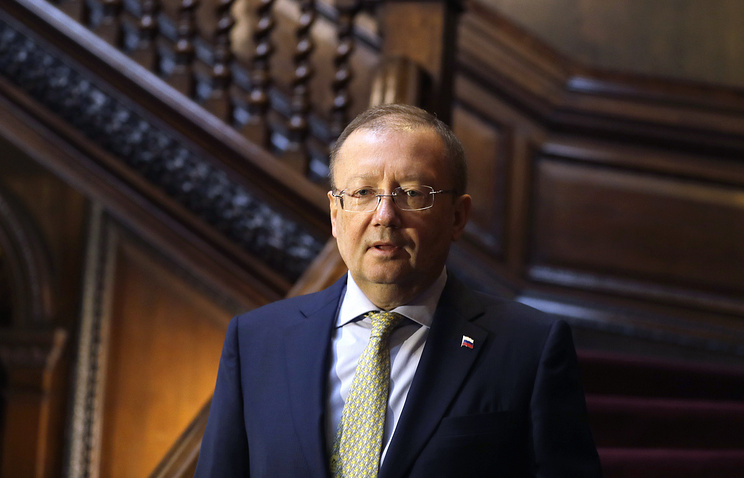 Russia's Ambassador to the United Kingdom Alexander Yakovenko