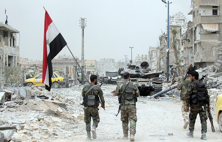 Syrian army gains ground in rebel south: monitor