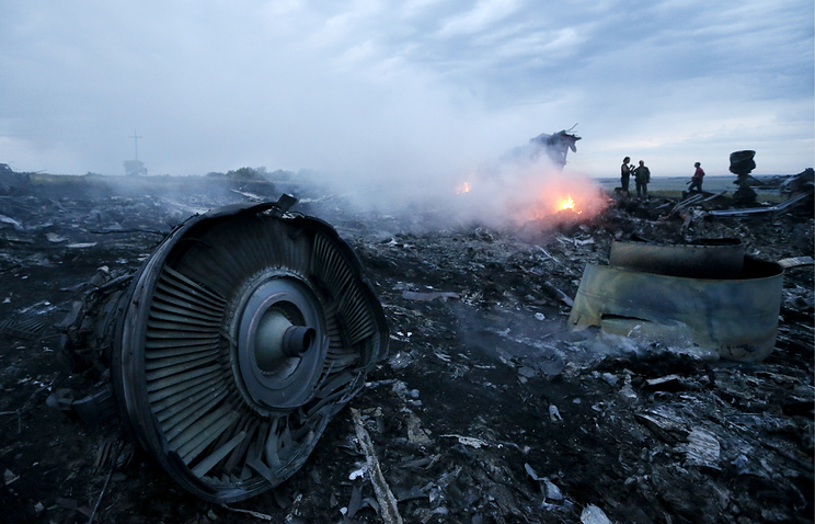 The site of Malaysia Airlines Flight MH17 crash in eastern Ukraine