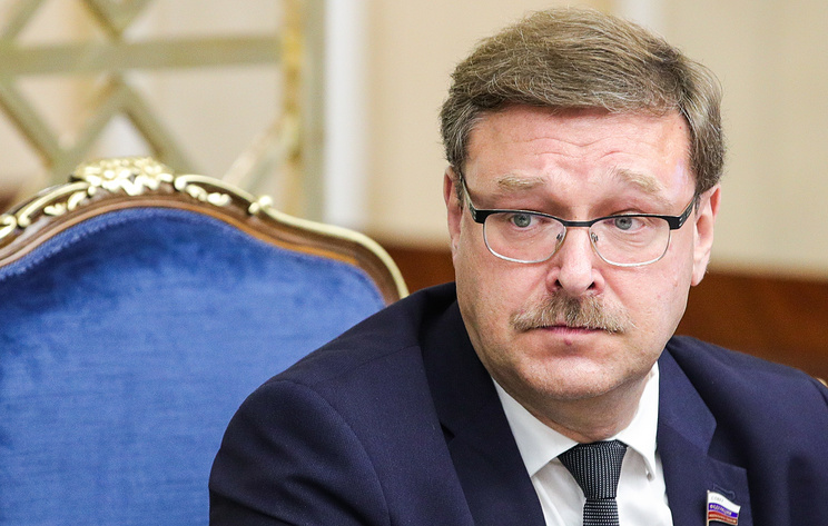 The chairman of the Russian Federation Council's Committee for International Affairs Konstantin Kosachev
