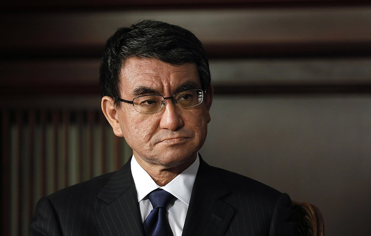The Minister of foreign Affairs of Japan Taro Kono