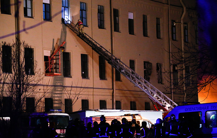 Floors collapse at Russian university in St. Petersburg