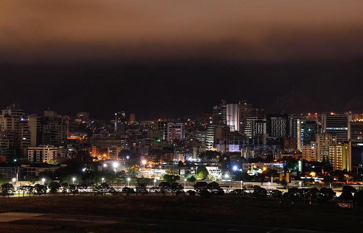 A night view of Caracas after power supply was restored