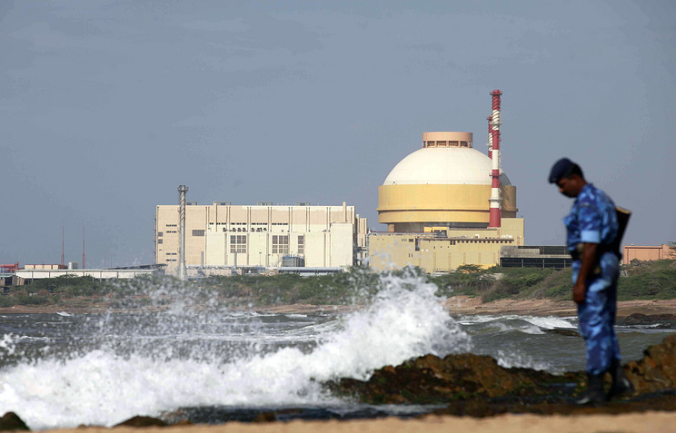 Russian-built Kudankulam Atomic Power Project at Kudankulam