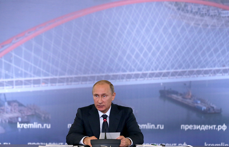 Vladimir Putin at the session of the State Council Mikhail