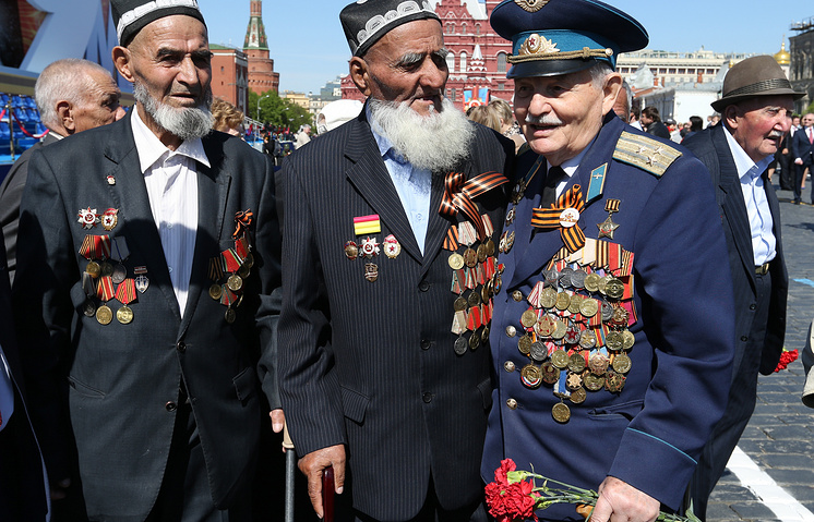 World War II veternas during the Victory Day celebrations in Moscow