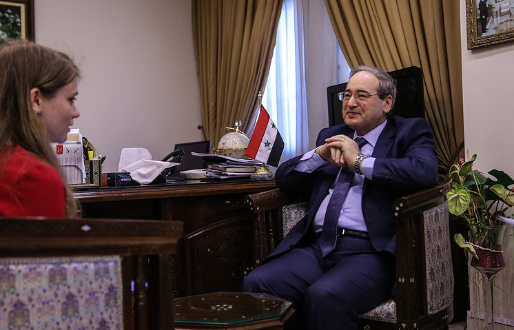 Syrian Deputy Foreign Minister Faisal Mekdad during the interview