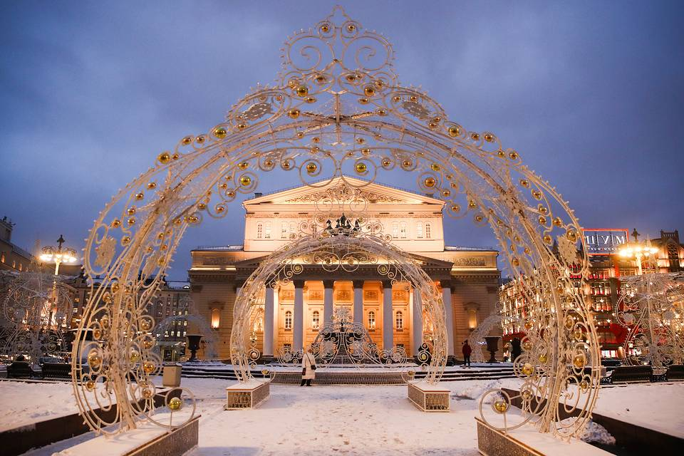 Christmas decorations by Moscow's Bolshoi Theater Valery Sharifulin/TASS