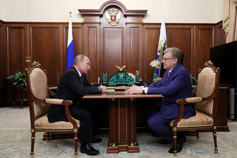 With Russian President Vladimir Putin, 2018 Mikhail Klimentyev/Russian Presidential Press and Information Office/TASS